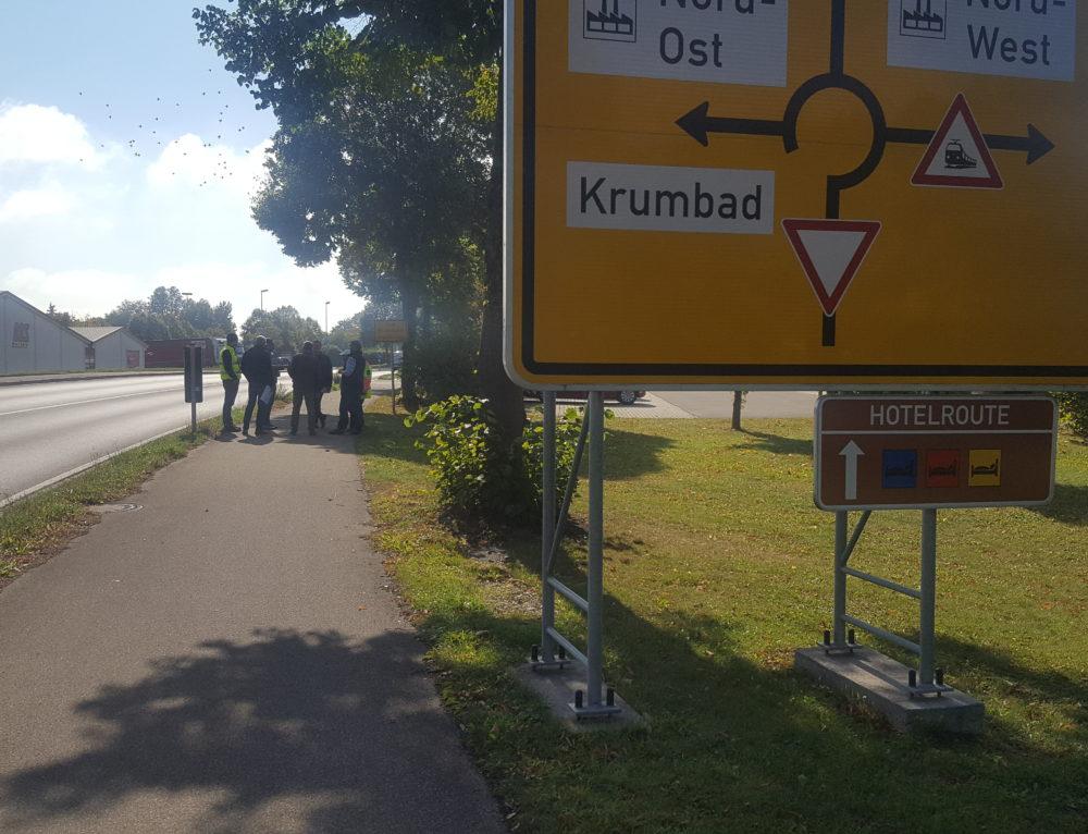 4.10.2018 – Ortsbegehung Parkleitsystem